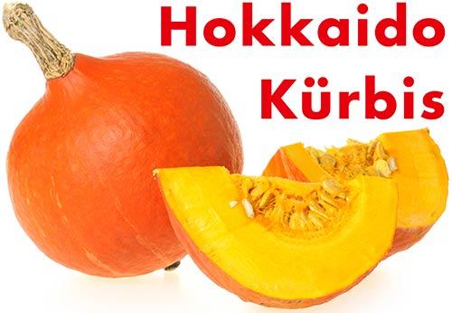Ein angeschnittener Hokkaido Kürbis