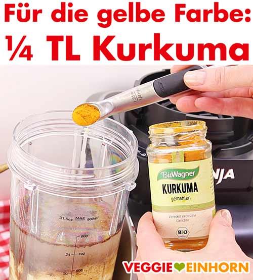 Kurkuma wird zugefügt