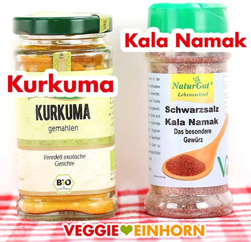 Kurkuma und Kala Namak