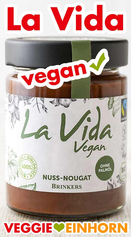 Ein Glas La Vida Vegan Nuss-Nougat-Creme von Brinkers