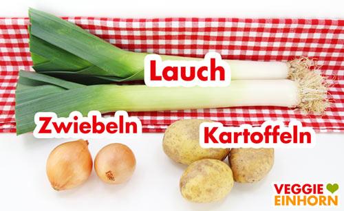 Lauch Zwiebeln Kartoffeln