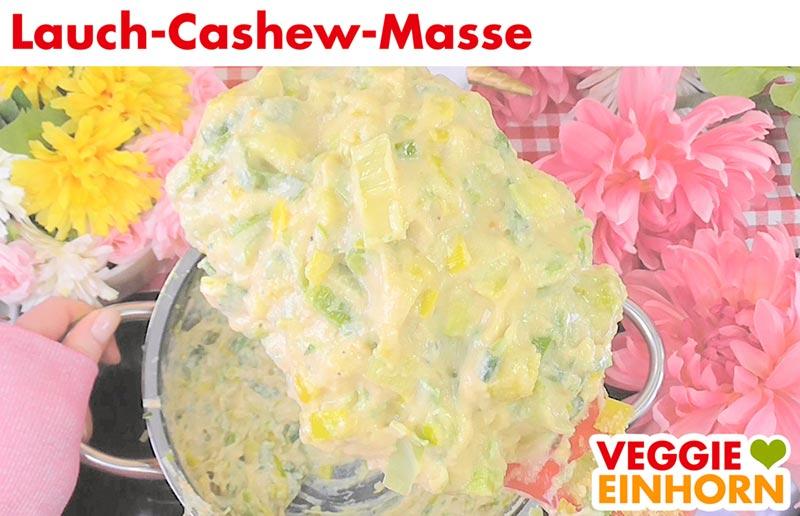 Vegane Lauch-Cashew-Masse