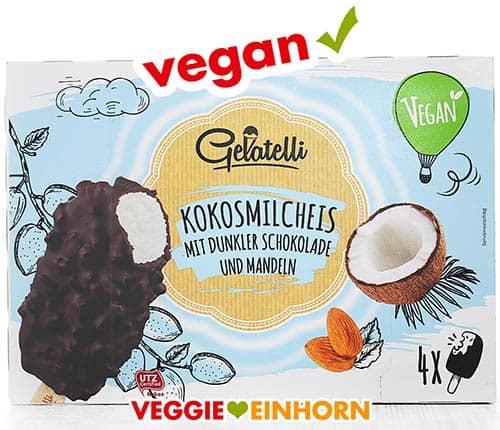 Veganes Kokosmilcheis am Stiel mit Schokolade von Lidl