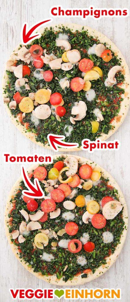Zwei gefrorene Pizzen von Lidl