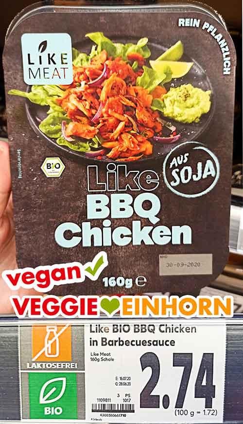 Eine Packung Like BBQ Chicken von Like Meat bei Kaufland