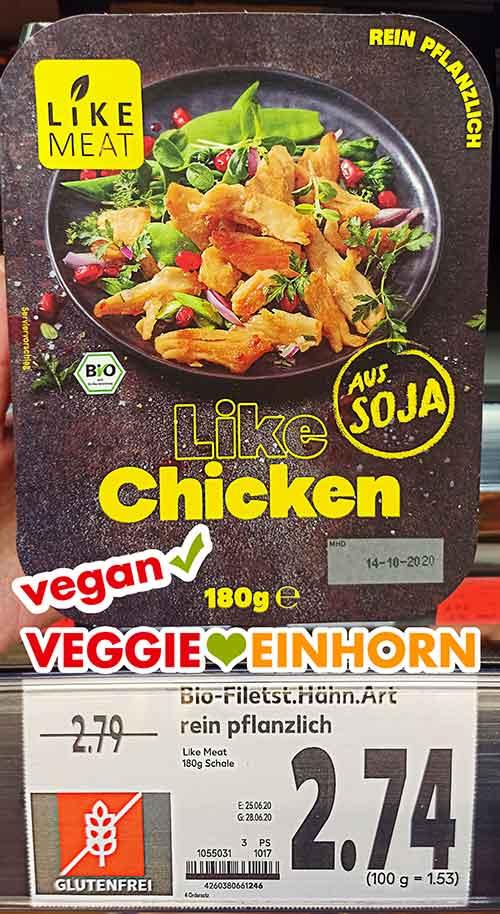 Eine Packung Like Chicken von Like Meat bei Kaufland