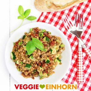 Veganer Linsensalat