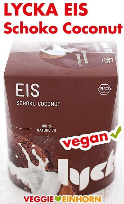 Eine Packung Lycka Eis Schoko Coconut