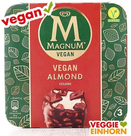 Eine Packung veganes Magnum Eis