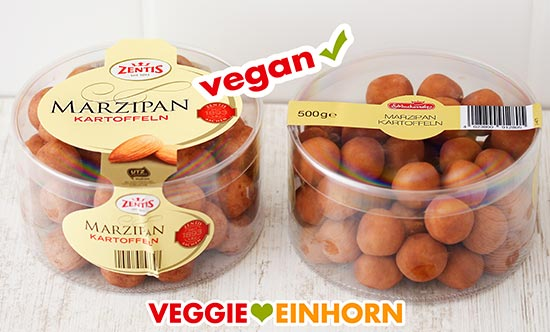 Vegane Marzipankartoffeln von Zentis und Schluckwerder