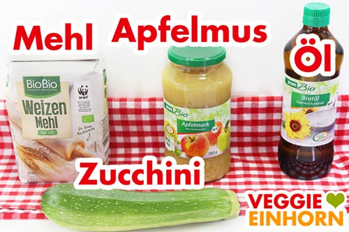 Mehl Apfelmus Öl Zucchini