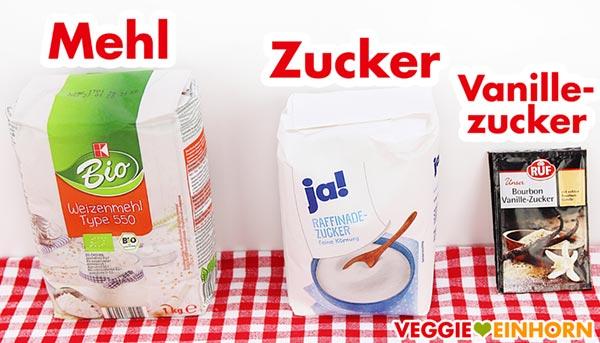 Mehl Zucker Vanillezucker
