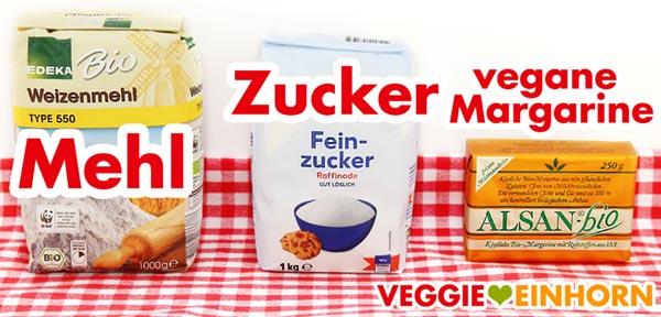 Mehl Zucker vegane Margarine