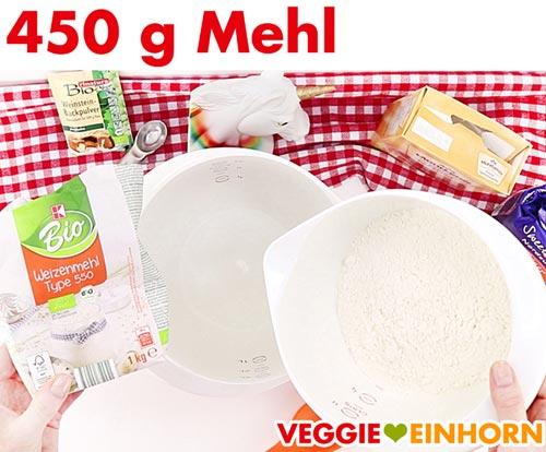 Mehl für vegane Nussecken