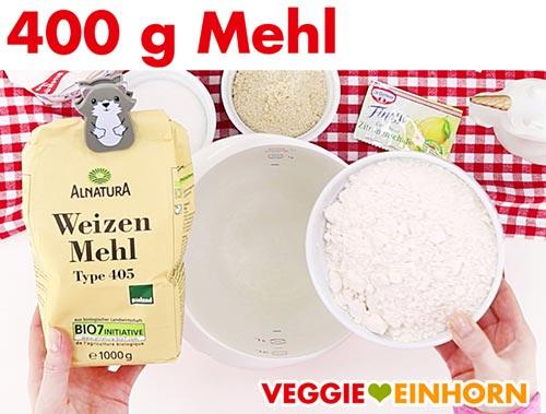 Mehl für veganen Plätzchenteig
