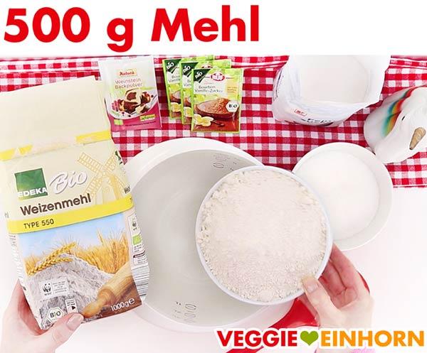 Mehl für veganen Stollen
