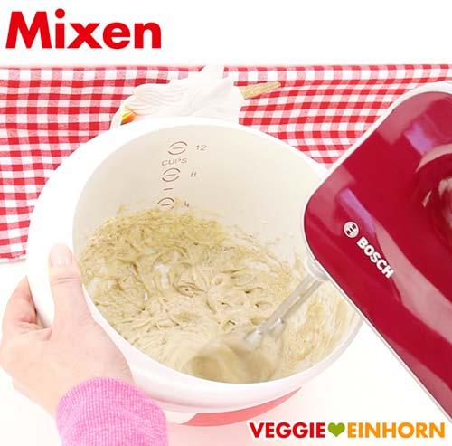 Vegane Plätzchen Zutaten mixen