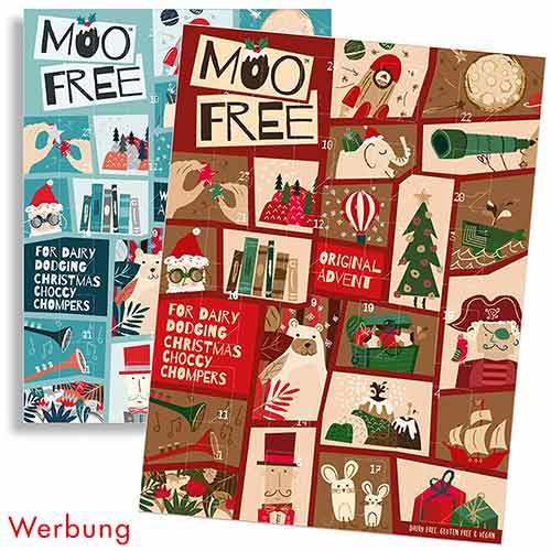 Moo Free Adventskalender mit veganer Schokolade