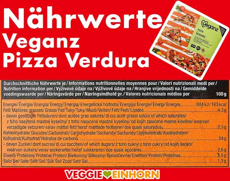 Kalorien der Veganz Pizza Verdura