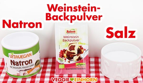 Natron Weinsteinbackpulver Salz