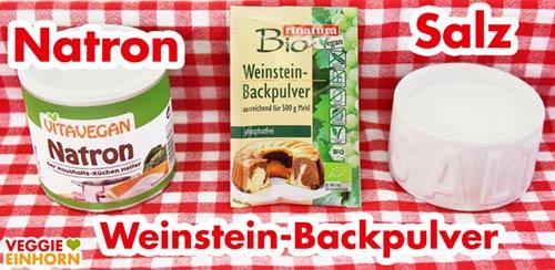 Natron Weinstein Backpulver Salz