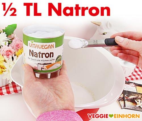 Natron zufügen