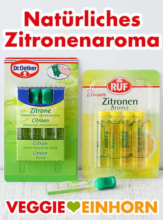 Zwei Packungen Zitronenaroma von Dr. Oetker und RUF