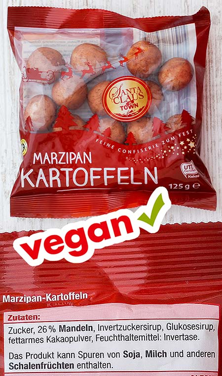 Vegane Marzipankartoffeln von Netto (Santa Claus in Town)