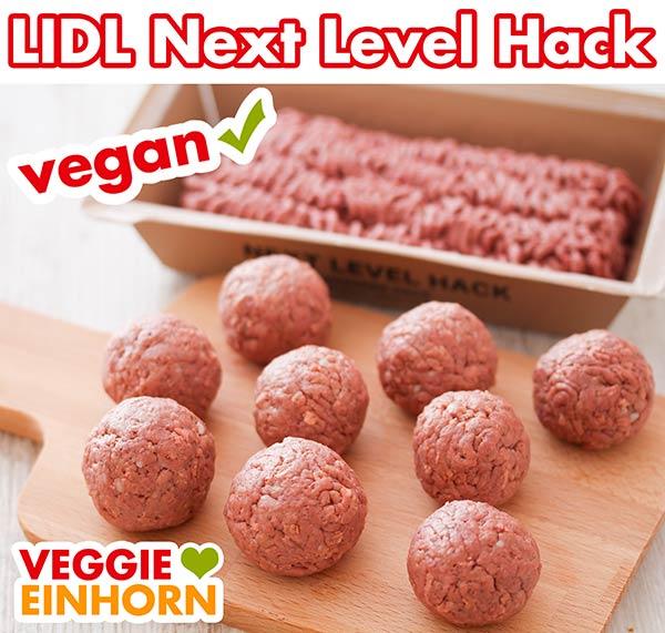 Rohe Hackbällchen aus veganem Hack von Lidl
