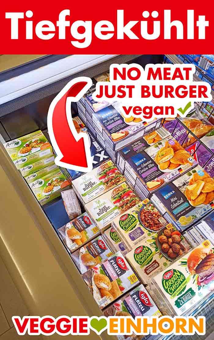 No Meat Just Burger in der Tiefkuehltruhe bei Edeka