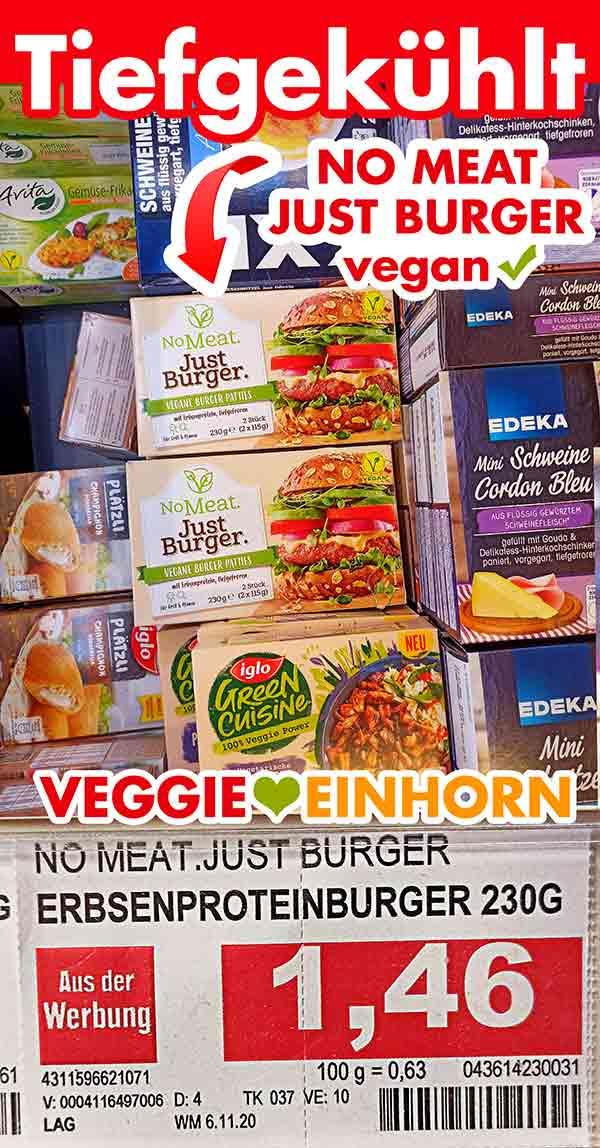 Preis von No Meat Just Burger bei Edeka