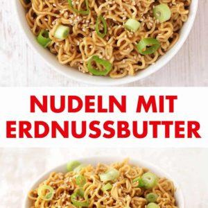 Nudeln mit Erdnussbutter Pinterest