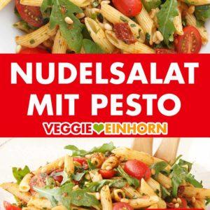 Nudelsalat mit Pesto und Rucola
