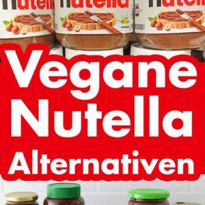 Gläser mit Nutella und vegane Alternativen