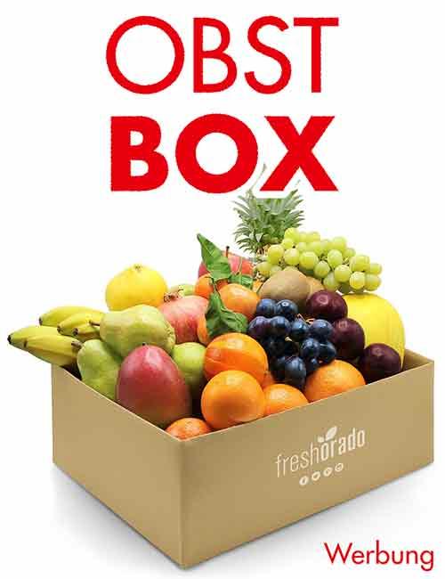 Eine Box gefüllt mit frischem Obst