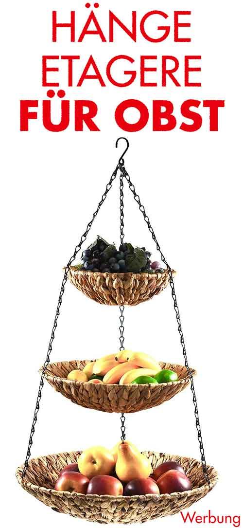 Hänge Etagere mit Obst