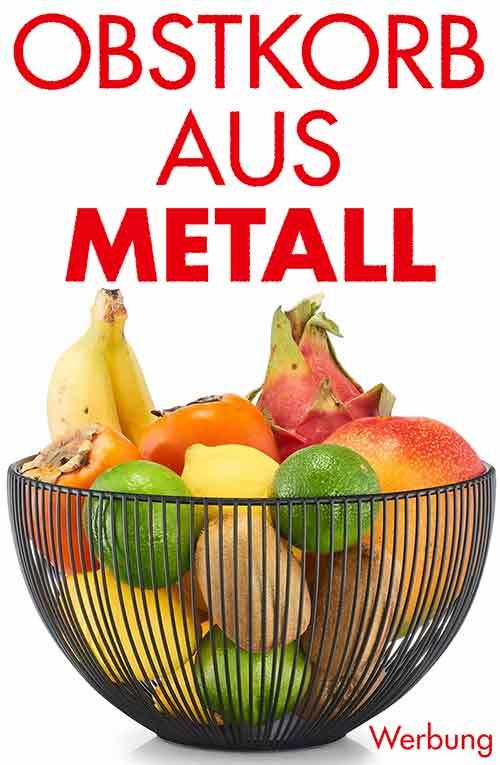 Obstkorb aus Metall