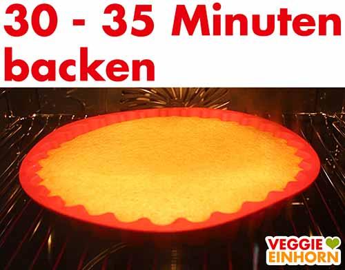 Obstkuchenboden im Ofen