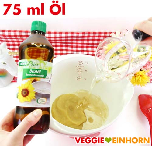 Öl für Zucchinibrot