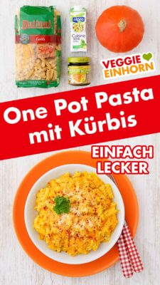 One Pot Kürbis Pasta Pinterest