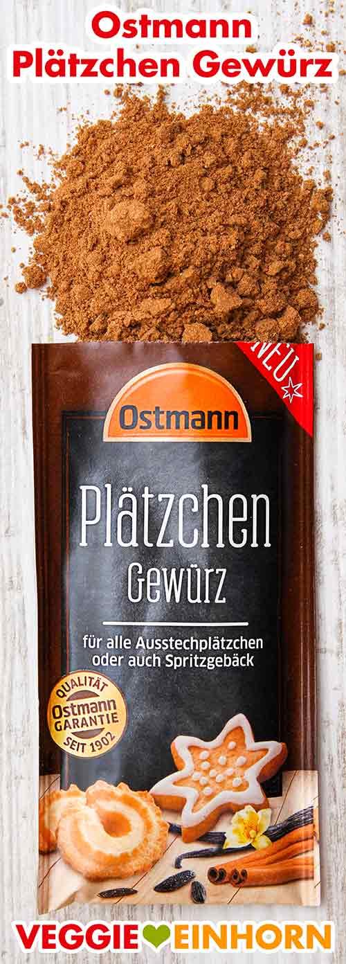 Geöffneter Beutel mit Plätzchen Gewürz von Ostmann