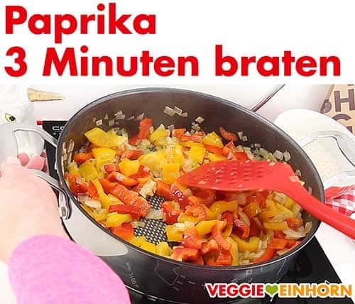 Paprika mit anbraten