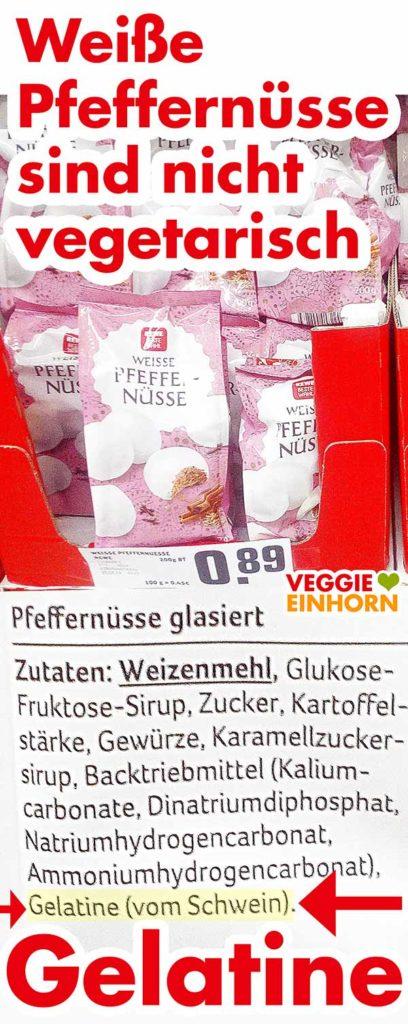 Pfeffernüsse mit Gelatine