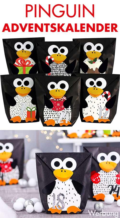 Pinguin Adventskalender zum Befüllen