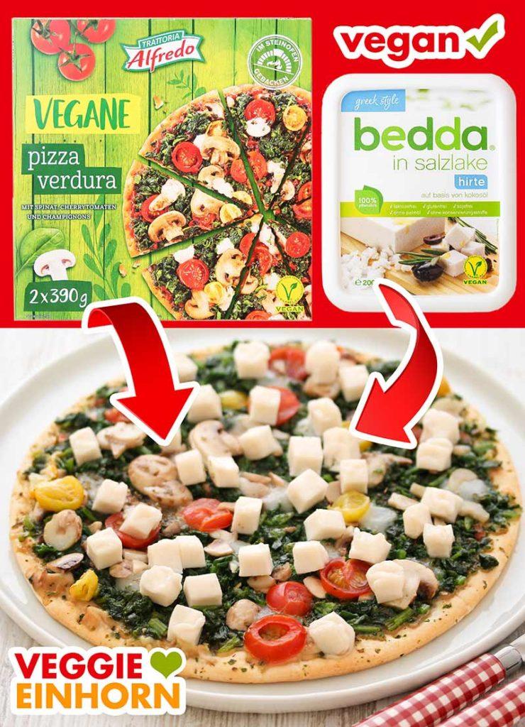 Vegane Pizza pimpen mit Feta