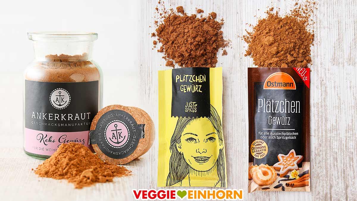 Plätzchen Gewürz von Ankerkraut, Just Spices und Ostmann