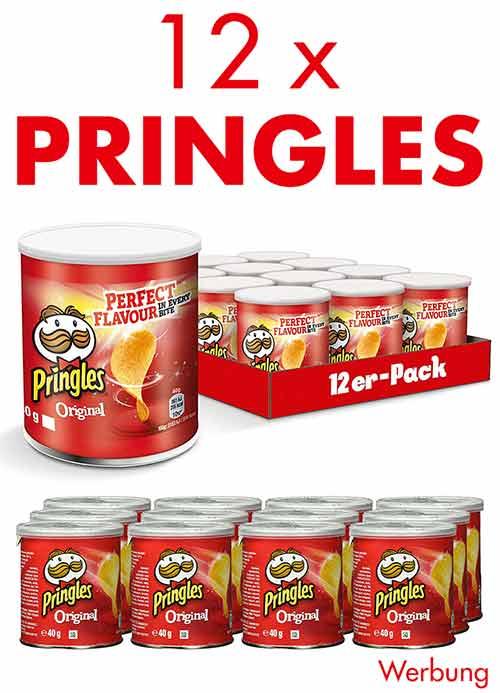 12 kleine Pringles Dosen