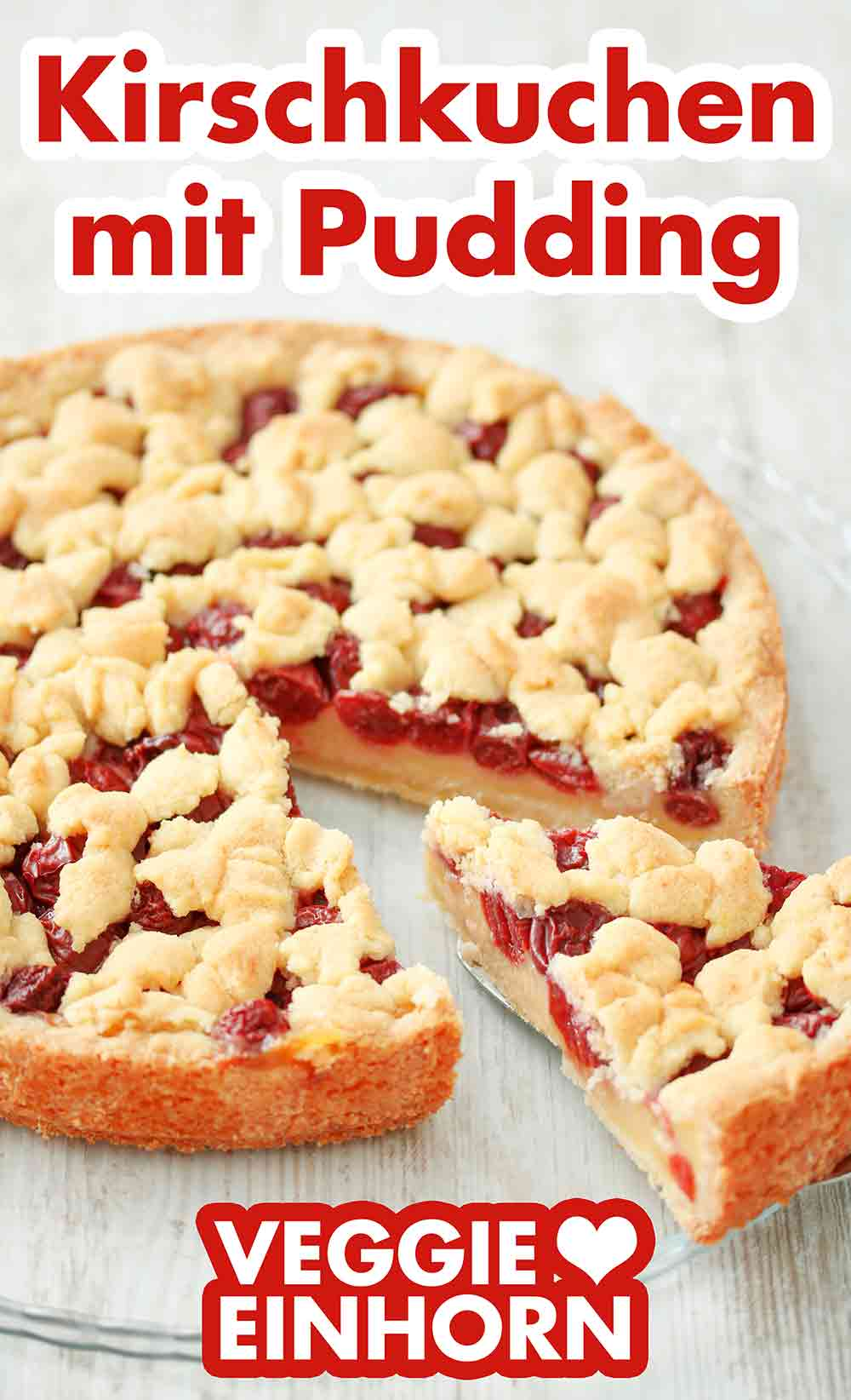Veganer Kirschkuchen mit Pudding