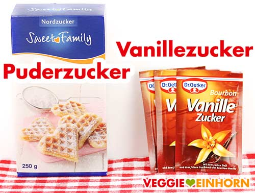 Puderzucker und Vanillezucker