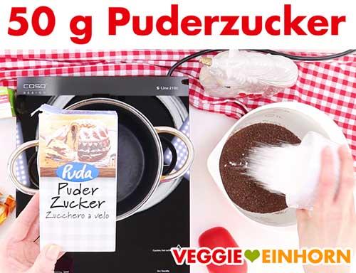 Puderzucker für vegane Schoko-Sahnecreme